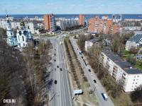 Вид сверху на улицу Гузовского