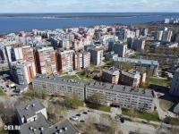 Вид сверху на общежития