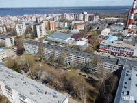 Вид сверху на дома по улице Тимофея Кривова