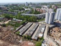 Вид сверху на ГК Приволжский и район улицы Афанасьева