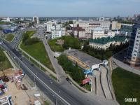 Вид сверху на расхождение дорог