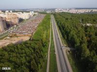 Вид сверху на Ядринское шоссе