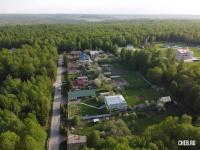 Вид сверху на поселок Лесной