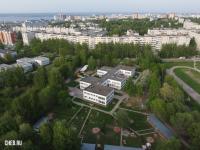 Вид сверху на детский сад 136