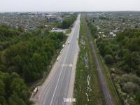 Вид сверху на Вурнарское шоссе
