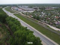 Вид сверху на Ишлейское шоссе