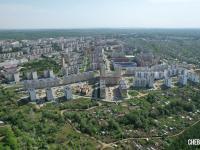 Вид сверху на Юго-Западный район