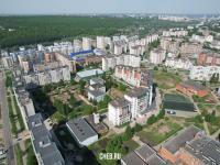 Вид сверху на район улиц Чернышевского и Мате Залка