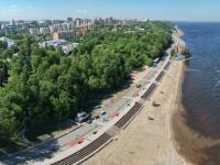 Сферическая панорама. Центральный пляж, Аллея Влюбленных, Волга
