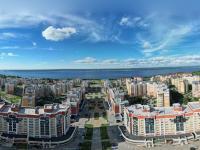 Сферическая панорама: Волжский-3, Приволжский бульвар вид над торговым центром