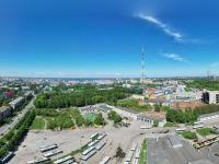 Сферическая панорама над троллейбусным ДЕПО