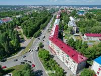 Вид сверху на проспект Ленина и сквер Чапаева