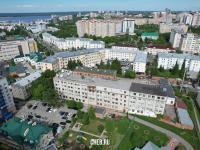 "Вид сверху на пр. Ленина 2 - Ростелеком и гостиница ""Чувашия"""