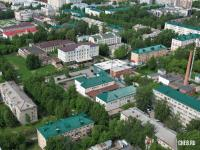 Вид сверху на дома по ул. Ильбекова