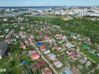 Вид сверху на частный сектор. Улица Репина