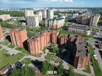 Вид сверху на дома ул. М.Павлова 76