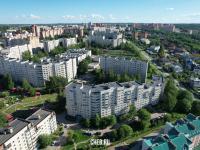 Вид сверху на дома по ул. Лебедева