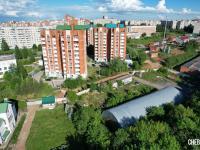 Вид сверху на дома по улице Лебедева