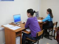 Компьютеры в читальном зале библиотеки финансово-экономического института ЧГУ