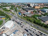 Президентский бульвар в районе ярмарки на Гладкова
