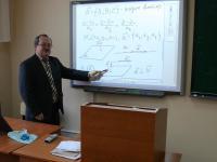 Доцент Юсупов Ильдус Юнусович проводит занятия с применением интерактивной доски ИВЦ ЧГУ