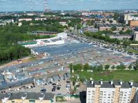 Вид сверху на Ярмарку на ул. Гладкова