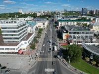 Вид сверху на улицу Композиторов Воробьёвых