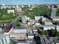 Вид сверху на центр города: ул. Ленинградская и ул. Калинина