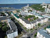 Вид сверху на квартал в центре города - улица Лениградская