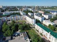 Вид сверху на дома по улице Ленинградская