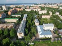 Вид сверху на дома по ул. Анисимова