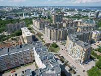 Вид сверху на Благовещенский микрорайон