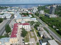 Вид сверху на центр города: Дома между улицами Карла Маркса и Ярославская