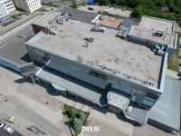 Вид сверху на крышу Центрального универмага