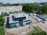 Вид сверху на центральный офис МегаФон - ул. Текстильщиков 6
