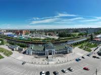 Сферическая панорама: Железнодорожный вокзал, улица Привокзальная, проспект Ленина
