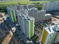 Вид сверху на дома на улице Таллерова