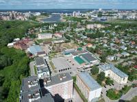 Вид сверху на Богданку и чебоксарский залив