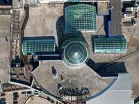 Вид сверху на крышу ТРЦ Каскад