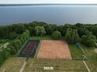 Вид сверху на теннисный центр на ул. Ислюкова