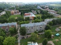 Вид сверху на дома по улице Яноушека