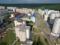 Вид сверху на пересечение улиц Мате Залка, Чернышевского и Эльменя