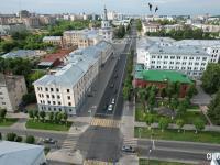 Вид на улицу Карла Маркса. Перекресток с улицей Дзержинского