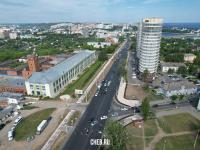 Вид сверху на улицу Калинина