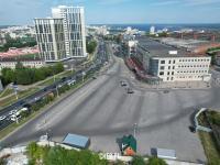 Вид на верхнюю парковку Мега Молла