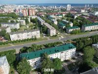 Вид сверху на район ул. Николаева и ул. Патриса Лумумбы