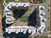 Фронтальный вид сверху на двор домов Миначева 11 и Миначева 11к1