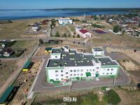 Вид на детский сад и школу в Сосновке