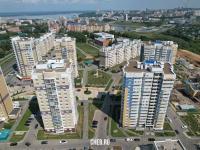 Вид сверху на улицу Радужная