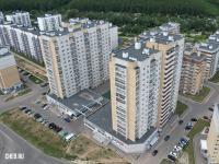 Вид сверху на 16-этажки Финской долины